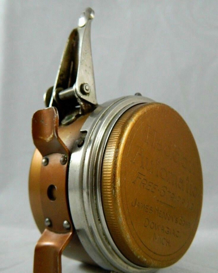 Vintage heddon automatic free stipping 57 fly fishing for Automatic fishing reel